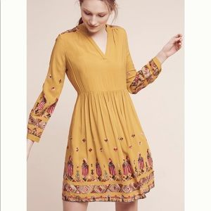 Anthropologie Raella Embroidered Dress NWT sz S